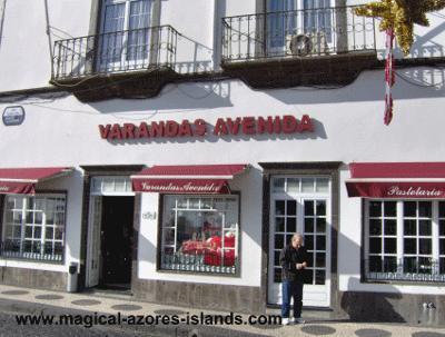 A cafe in Ponta Delgada