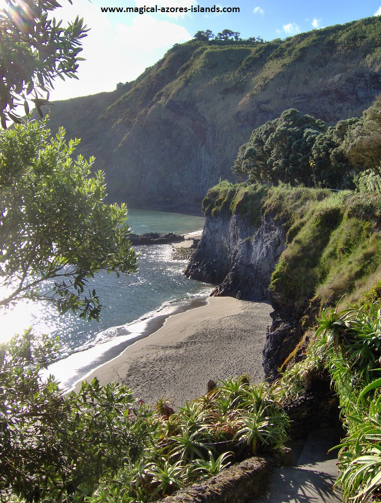 Caloura, Sao Miguel, Azores. A pretty fishing port and village on the south coast.  This beach is one of my favourites