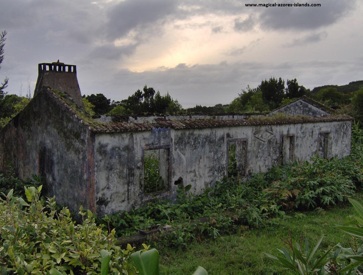 Ruins in Faial Azores.
