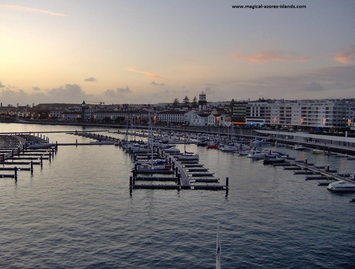 The marina in Ponta Delgada (Sao Miguel Azores)