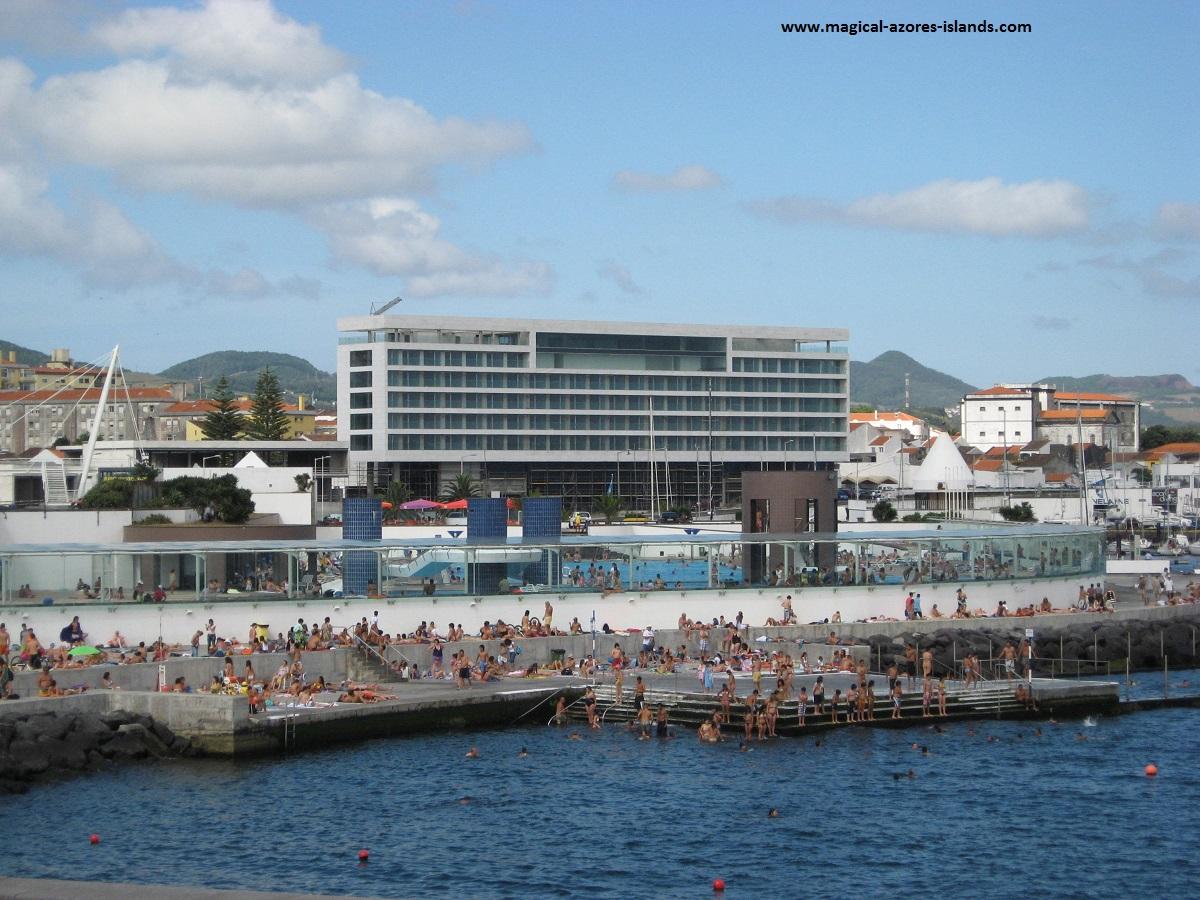 Swimming in Ponta Delgada. Sao Miguel Azores