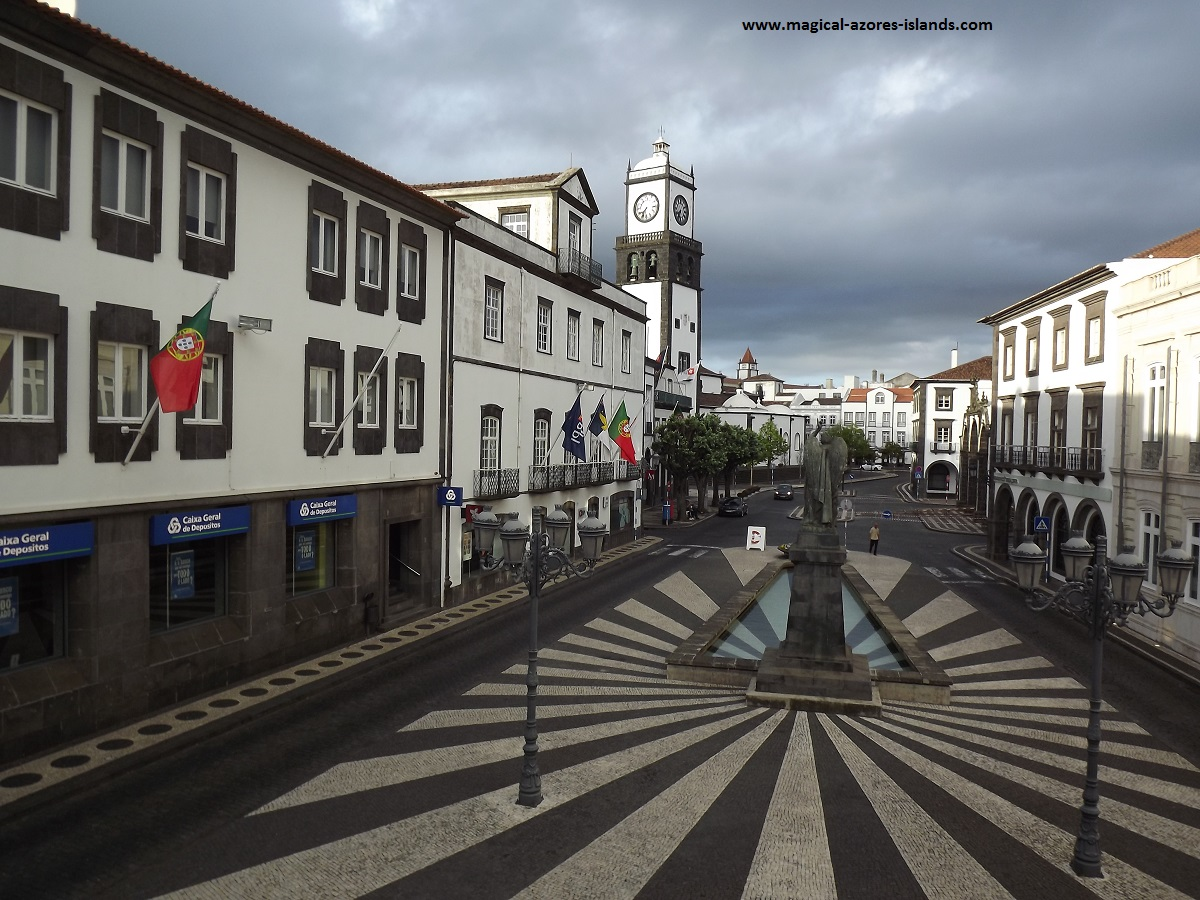 From the steps of City Hall in Ponta Delgada  Sao Miguel, Azores
