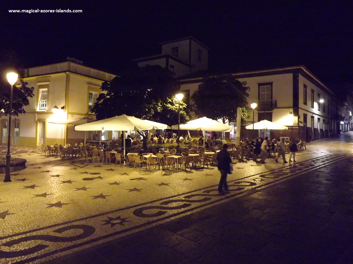 There are plenty of lovely spots to spend an evening in Ponta Delgada  Sao Miguel, Azores