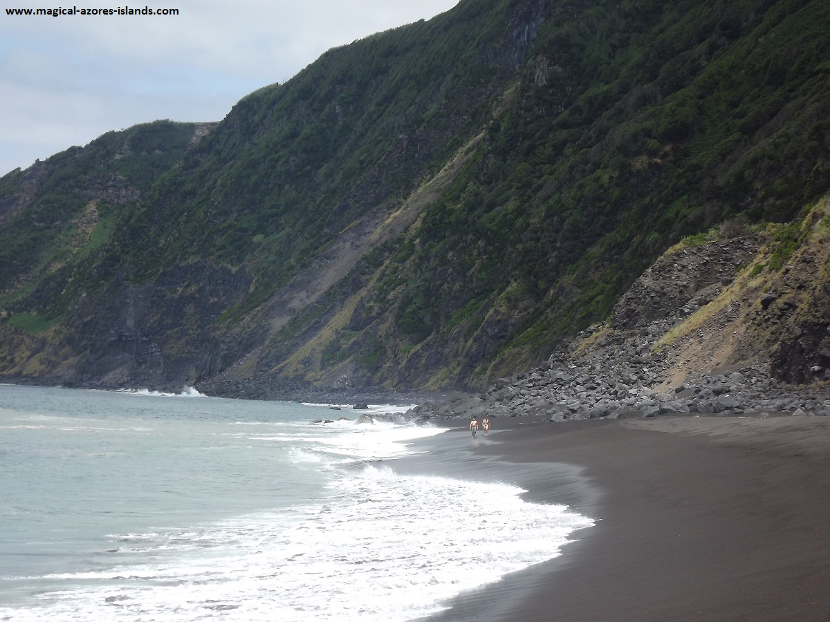 Praia do Norte. A nice beach in Faial
