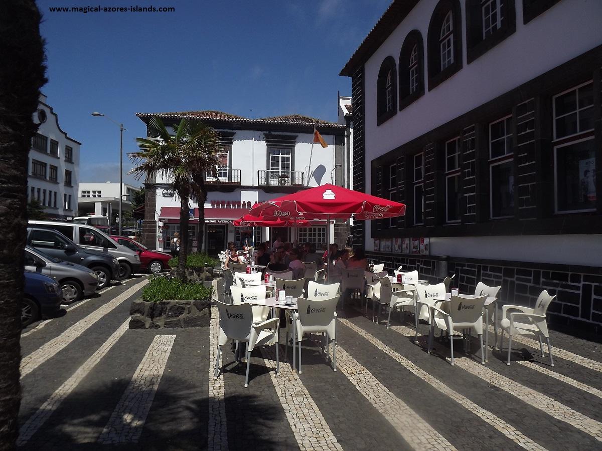 A cafe in Ponta Delgada, Sao Miguel, Azores