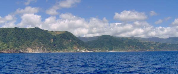 The Azores Islands, from a sailboat