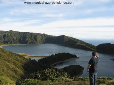 At Lagoa do Fogo