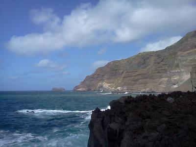 Seaside cliffs at Ferraria, Sao Miguel