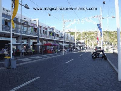 Beachfront shops at Praia da Vitoria