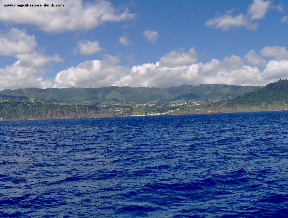 Azores sailing - A view of the south coast of Sao Miguel