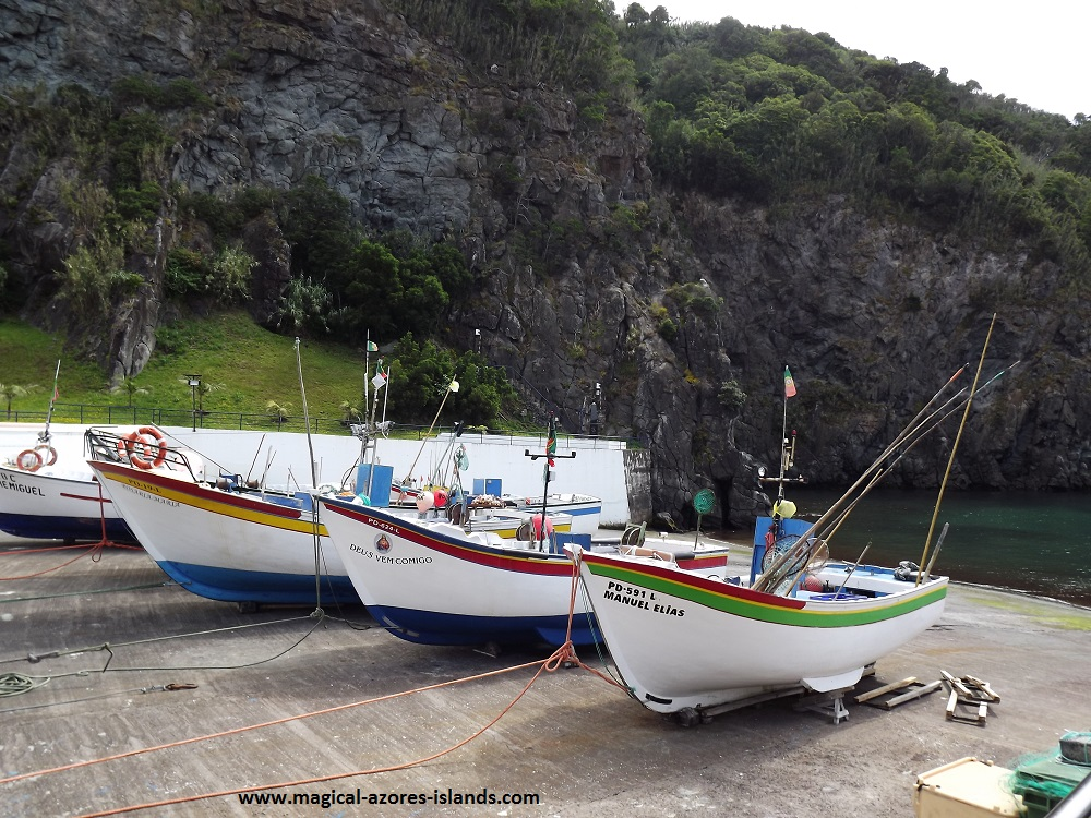 Caloura, Sao Miguel, Azores. A pretty fishing port and village on the south coast.