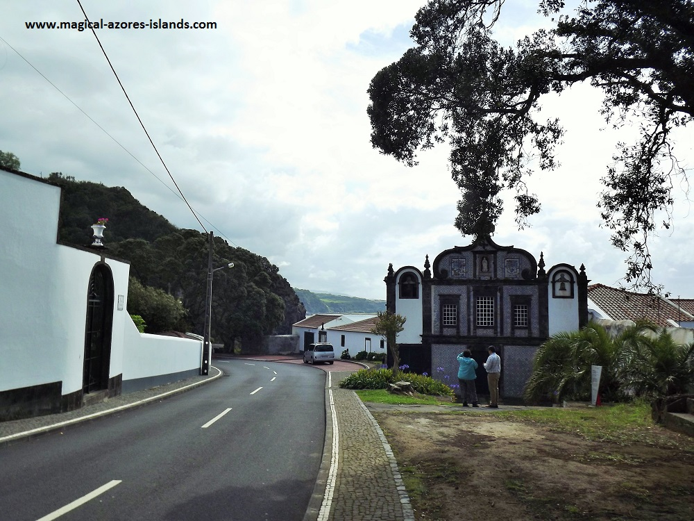 Caloura, Sao Miguel, Azores. A pretty fishing port and village on the south coast.  This Convent and Chapel was built in the 16th Century