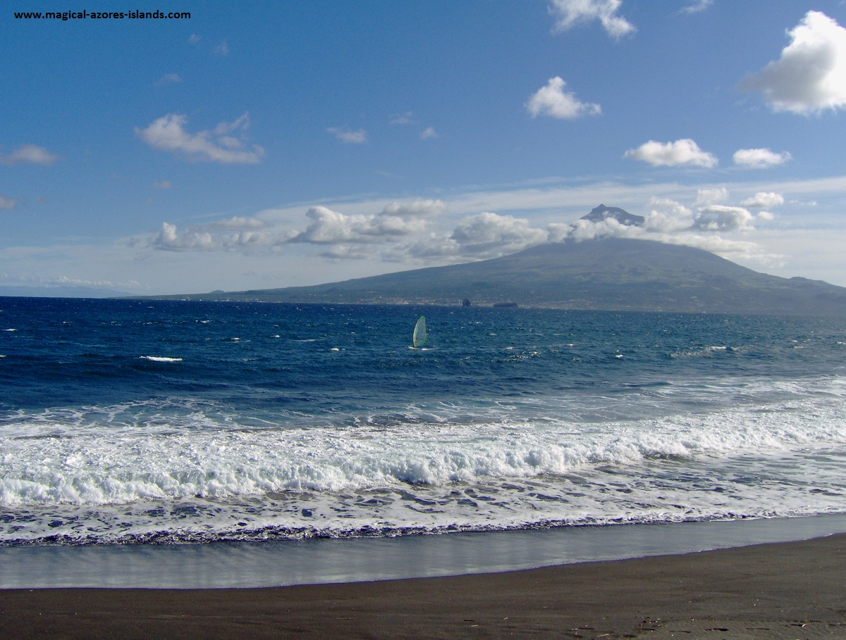 Praia do Almoxarife, Faial, with Pico in the background. Azores