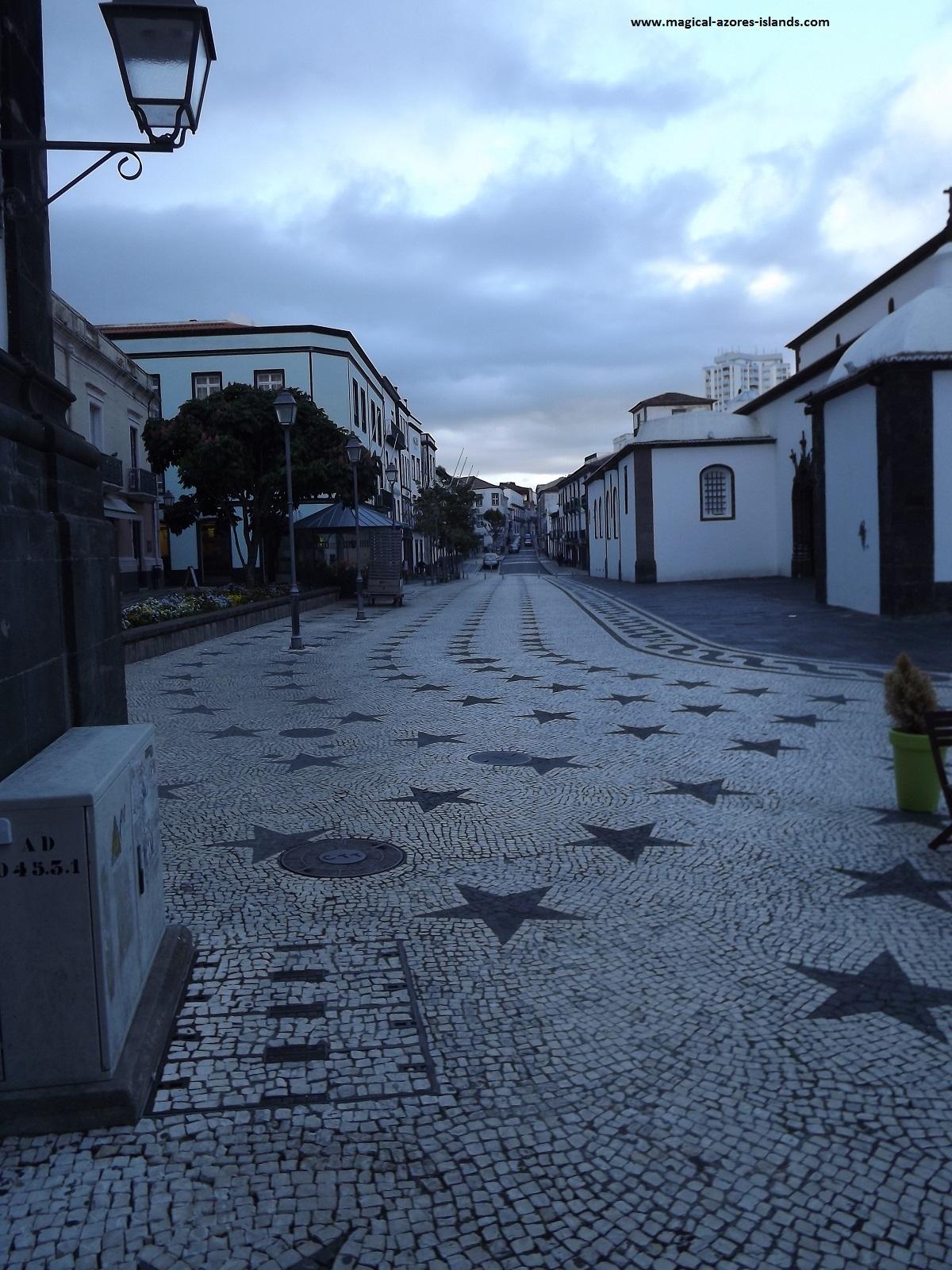 Love this cobblestone beside St Sebastien  Church in Ponta Delgada, Sao Miguel, Azores