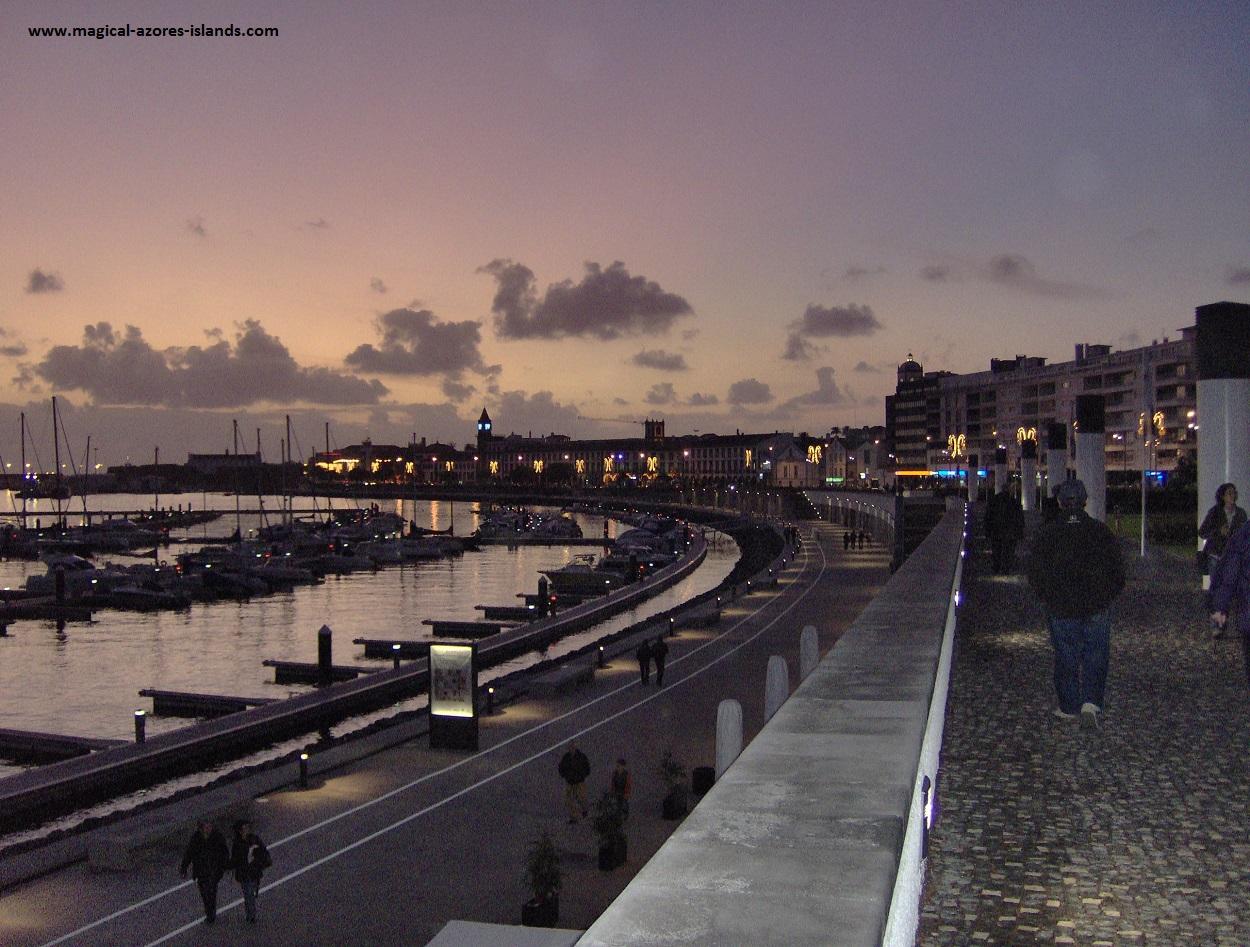 The waterfront in Ponta Delgada, Sao Miguel Azores