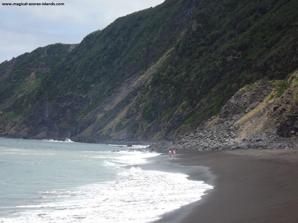 Praia do Norte. A nice beach in Faial